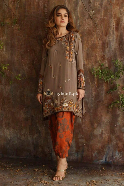 STYLE LOFT.PK Mehndi Dress by Nida Azwer Embroidered Lawn Two Piece Replica Suit NA19L-01