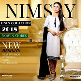 Nimsay Winter-2018 Linen 3Piece Unstitched Suit NM-11