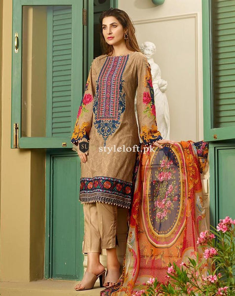 Nishat 5✰ Winter Collection-3Piece 12-A