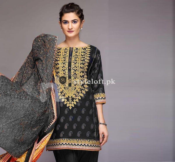 Nishat Embroidered Lawn Collection Unstitched 3Pc Suit NS-1903