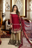 STYLE LOFT.PK Nomi Hussain Chiffon Embroidered 3Pc Suit with Silk Trouser- Party Dress