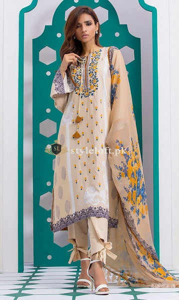 Orient Embroidered Lawn Collection 2019 3Pc Suit OTL-232-B