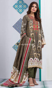 STYLE LOFT.PK Orient Lawn Unstitched Embroidered 3Pc Dress OTL-1901A