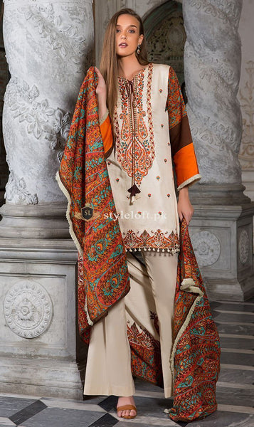 Orient Linen 3Piece with Wool Shawl OTL-1908
