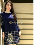 Pakistani Women's Winter Velvet 2Piece Dress