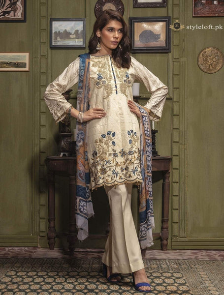 RajBari Embroidered Lawn Unstitched 3Pc Suit RB18W 6-A