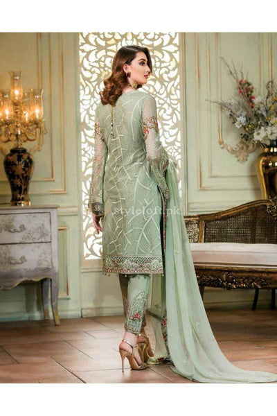 Ramsha Chiffon Collection 2019 Unstitched 3 Piece Suit-F1403