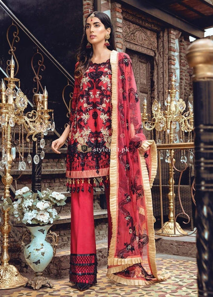STYLE LOFT.PK Rang Rasiya Embroidered Chiffon Unstitched 3 Piece Suit RR19MN 909
