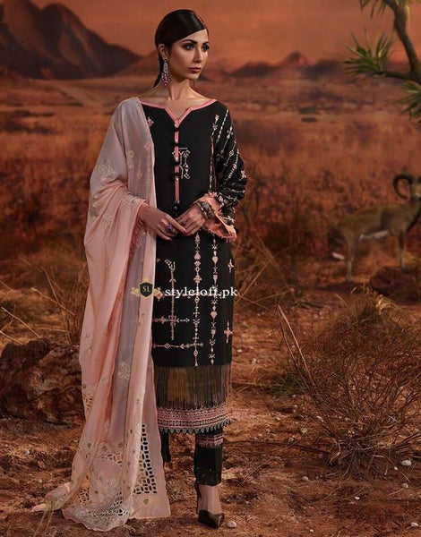 STYLE LOFT.PK Rangrasiya Lawn Collection 2019 Unstitched 3 Piece Suit-4B