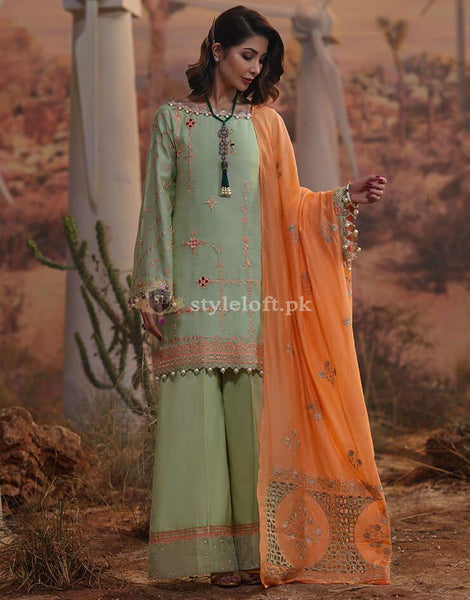 STYLE LOFT.PK RangRasiya Premium Lawn Collection 2019 Unstitched 3 Piece Suit- 5004-A