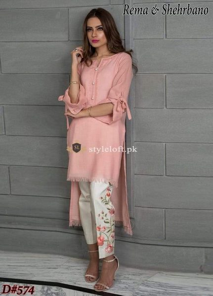 STYLE LOFT.PK Rema & Shehrbano Linen Collection 2019 Unstitch 2Piece Suit