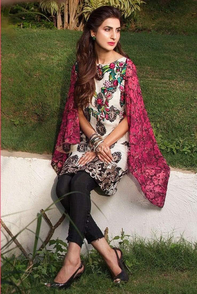STYLE LOFT.PK Rozina Munib Embroidered Lawn Collection 2019 Unstitched 3 Piece Suit- RM03B