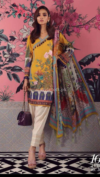 STYLE LOFT.PK Sana Safinaz Lawn Collection 2019 Unstitched 3 Piece Suit