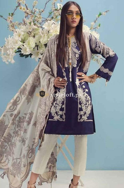 STYLE LOFT.PK Sana Safinaz Lawn Collection 2019 Unstitched 3 Piece Suit-D6029A