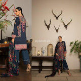 Sana Safinaz Winter Collection 2018 3Piece SS-03B-Blue