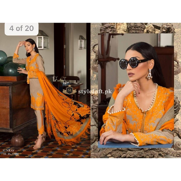 Sana Safinaz Winter Collection 2018 3Piece SS-04-Mustard