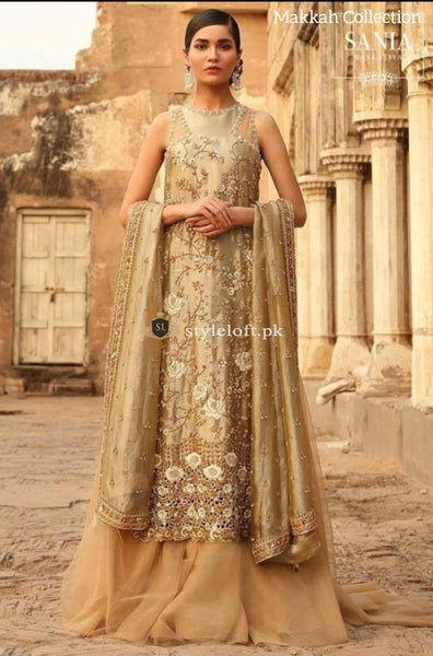STYLE LOFT.PK Sania Maskatiya Unstitched Bridal Collection Net Embroidered 3Pc Suit