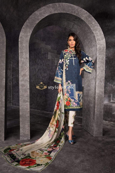 Sapphire Spring Summer Lawn Collection 2019 3 Piece Suit - Blue