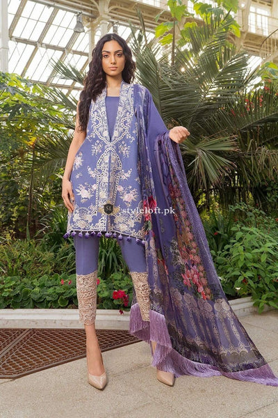STYLE LOFT.PK Sobia Nazir Lawn Collection 2019 with Silk Duppata 3Piece Suit SN-12A