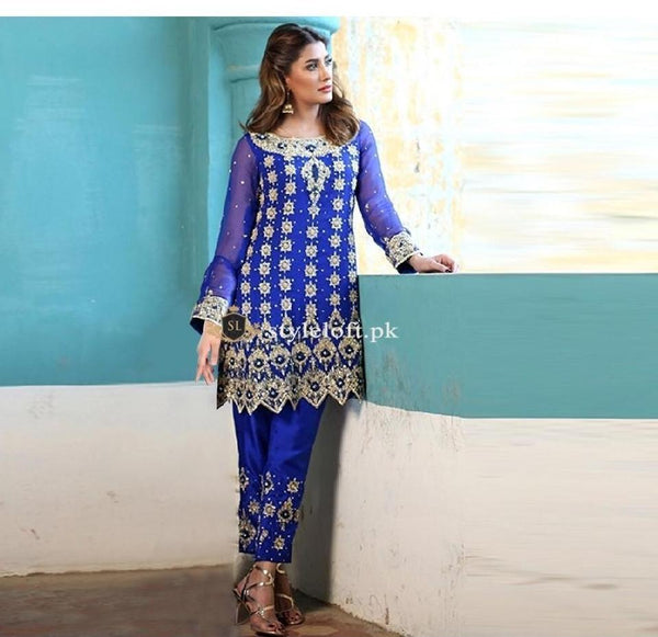Spotted Mehwish Hayat Linen 2Piece