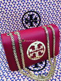 Tory Burch Fleming Convertible Shoulder Bag Color-Maroon
