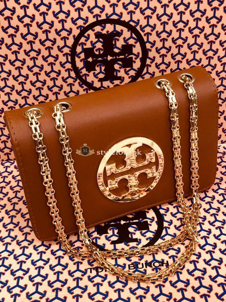 Tory Burch Fleming Convertible Shoulder Bag Color-Mustard