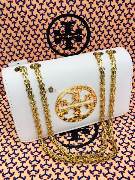 Tory Burch Fleming Convertible Shoulder Bag Color-White