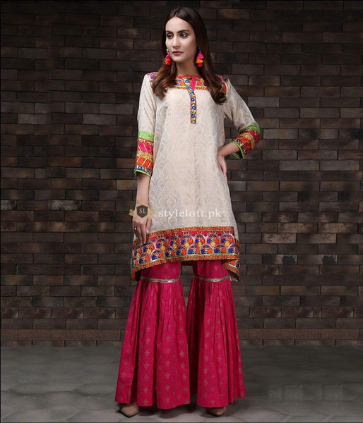 STYLE LOFT.PK Zahra Ahmed Embroidered 2Piece Suit -  Shirt & Trouser ARO-2077