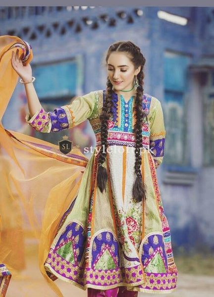 Zahra Ahmed Embroidered Lawn Collection Unstitched 3Pc Suit