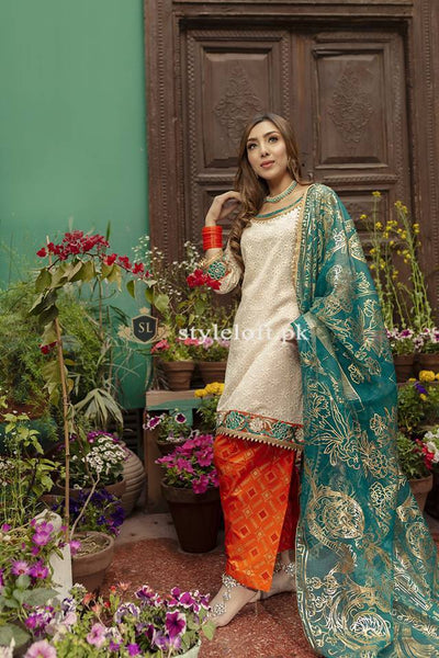 STYLE LOFT.PK Zahra Ahmed Embroidered Lawn Unstitched 3 Piece Suit - Eid Collection Vol.2 2019