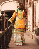 Zahra Ahmed Linen 3Piece Dress-2018