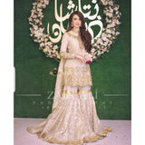 Zainab Chottani Bridal Pure Chiffon 3Piece Unstitched Suit