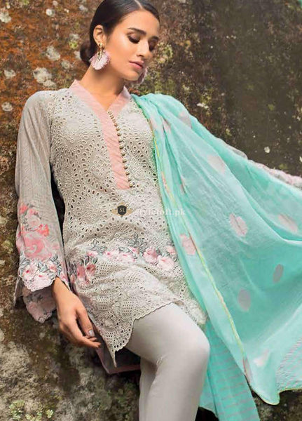 STYLE LOFT.PK Zainab Chottani Embroidered Lawn Unstitched 3 Piece Suit ZC19L 10B SERENE MUSK - Spring / Summer Collection