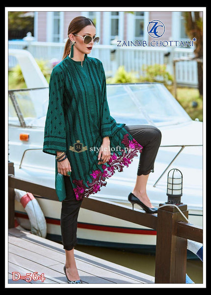 STYLE LOFT.PK Zainab Chottani Embroidered Linen Collection 2 Piece Suit