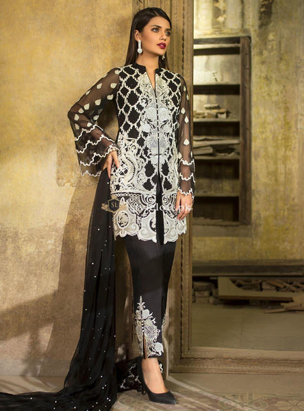 Zainab Chottani Wedding Festive Collection Unstitched 3 Piece Suit-Pearly Night