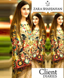 Zara Shahjahan Embroidered Lawn Collection 2Pc Celebrity Suit