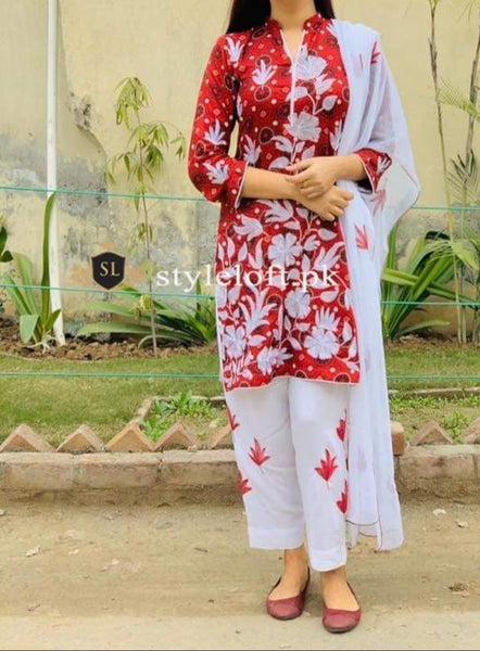 Styleloft.pk Ajrak Lawn Collection2020-2Piece Unstitched Suit 2 PIECE