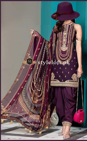 Styleloft.pk Anaya Unstitched Linen Collection 2020 3 PIECE