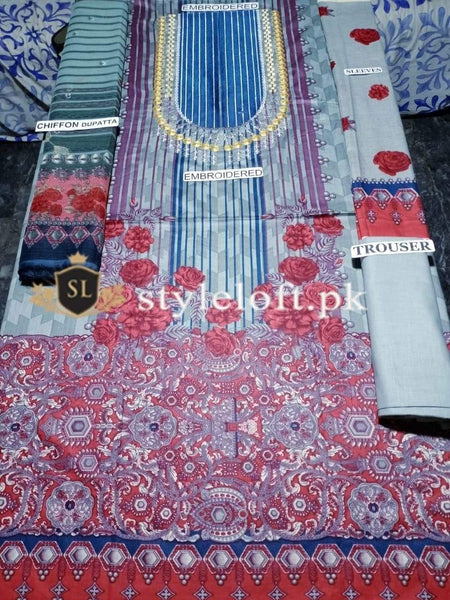 Styleloft.pk AUJ Lawn Collection 2020 Unstitched 3 Piece Suit 3 PIECE