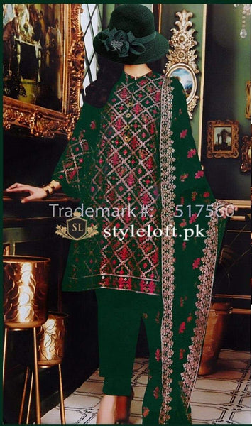 Styleloft.pk Bareeze Lawn Collection 2020 Unstitched 3 Piece Suit 3 PIECE