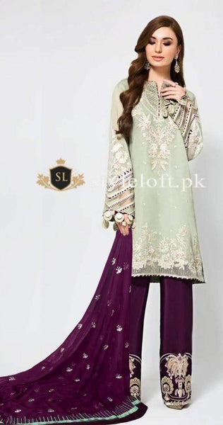 Styleloft.pk Baroque Eid Collection 2020 Unstitched 3 Piece Suit 3 PIECE