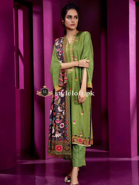 Styleloft.pk Baroque Lawn Collection 2020 Unstitched 3 Piece Sui 3 PIECE