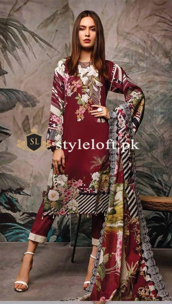Styleloft.pk Firdous Unstitched Winter Collection 2020 3 PIECE
