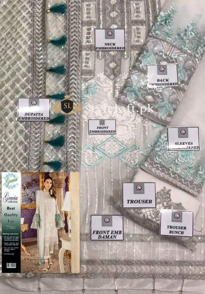 Styleloft.pk Imrozia Embroidered Chiffon Unstitched 3 Piece Suit- Luxury Collection 3 PIECE