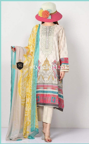 Styleloft.pk Limelight Lawn Collection 2020 Unstitched 3 Piece Suit 3 PIECE