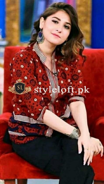 Styleloft.pk Maria.B Embroidered Linen 2Piece Suit (Shirt & Trouser) 2 PIECE