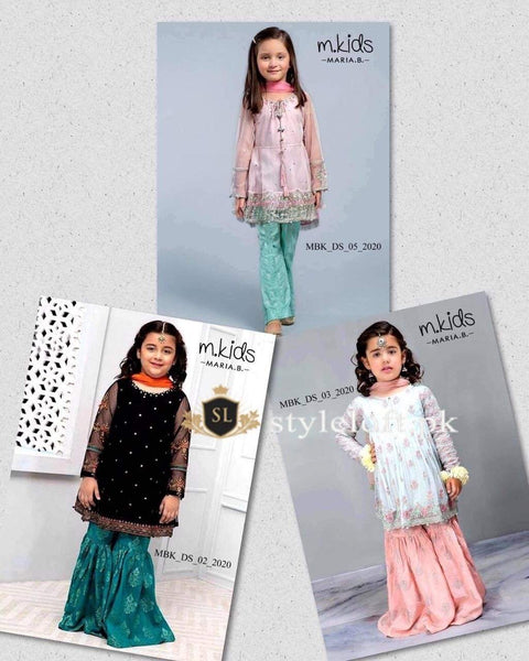 Styleloft.pk Maria B Kids Collection 2020 Unstitched 2 Piece Suit Pack of 3 KIDS
