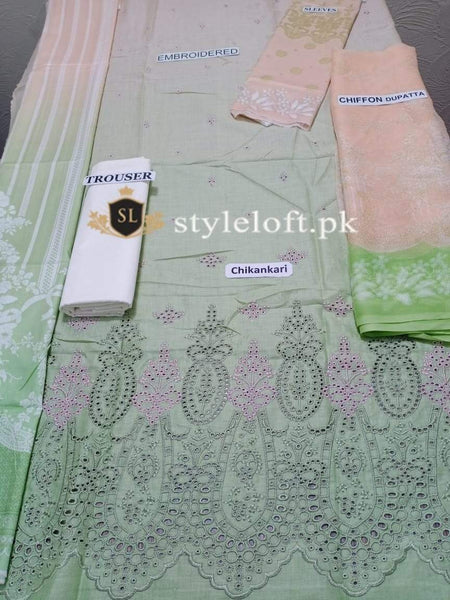 Styleloft.pk Maria B Lawn Collection 2020 Chikankari Unstitched 3 Piece Suit 3 PIECE