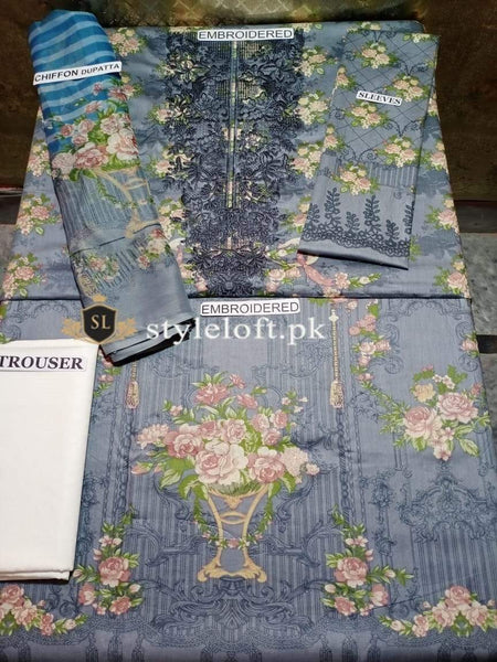 Styleloft.pk Maria B Lawn Collection 2020 Unstitched 3 Piece Suit 3 PIECE