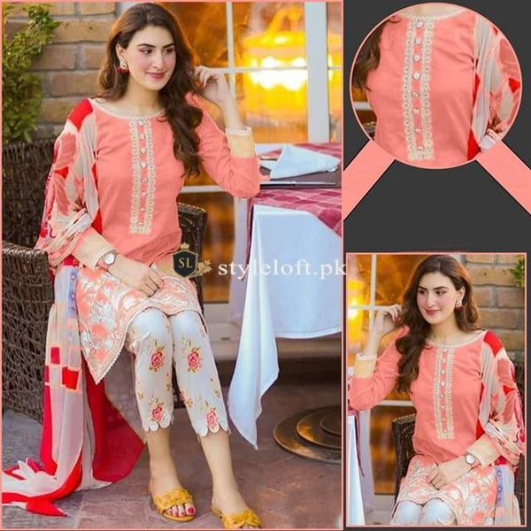 Styleloft.pk Maria B Lawn Collection 2020 Unstitched 3 Piece Suit THREE PIECE